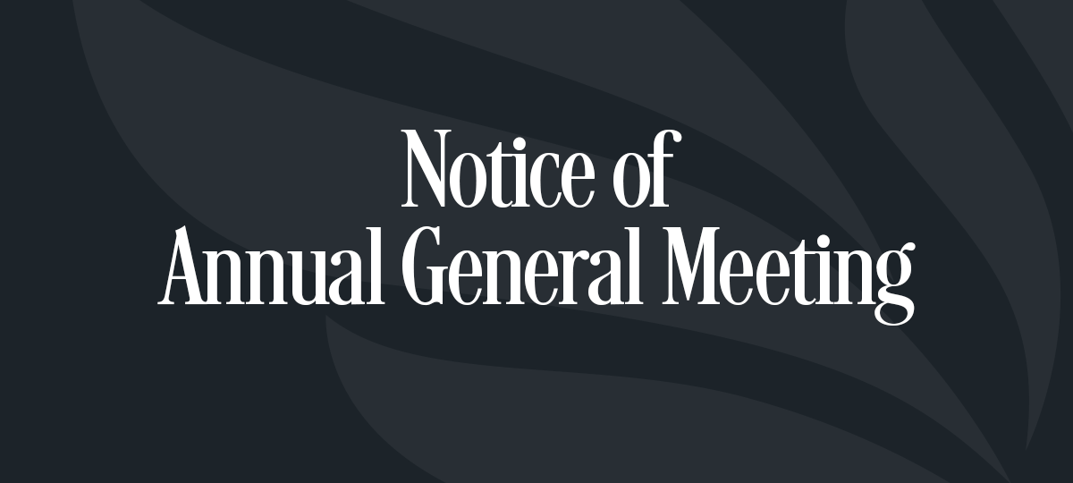 2017 Annual General Meeting Notice
