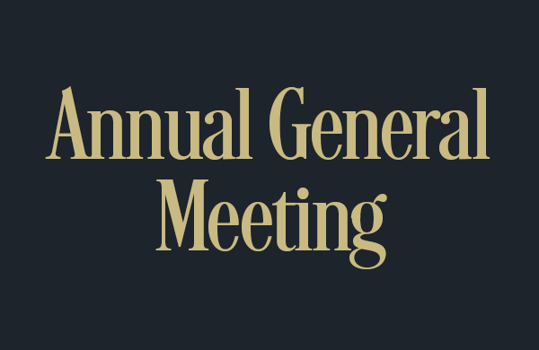 Save the Date: AGM